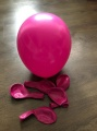 Růžové balónky
